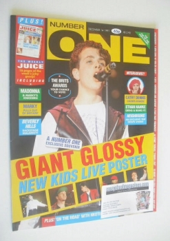 NUMBER ONE Magazine - New Kids On The Block cover (14 December 1991)