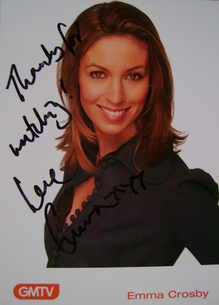 Emma Crosby autograph (hand-signed photograph)