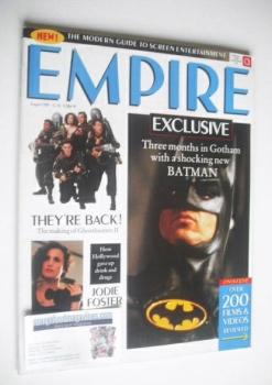 <!--1989-08-->Empire magazine - Batman cover (August 1989 - Issue 2)