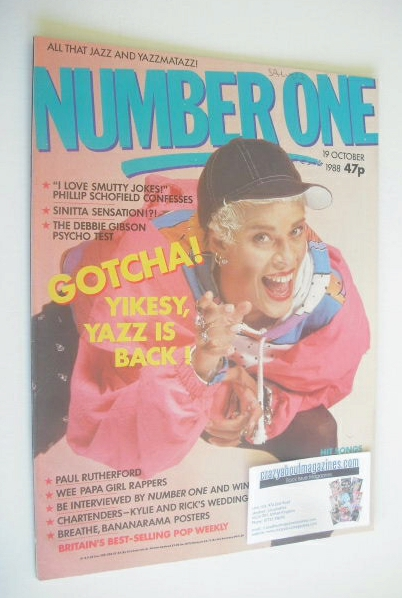 <!--1988-10-19-->NUMBER ONE Magazine - Yazz cover (19 October 1988)