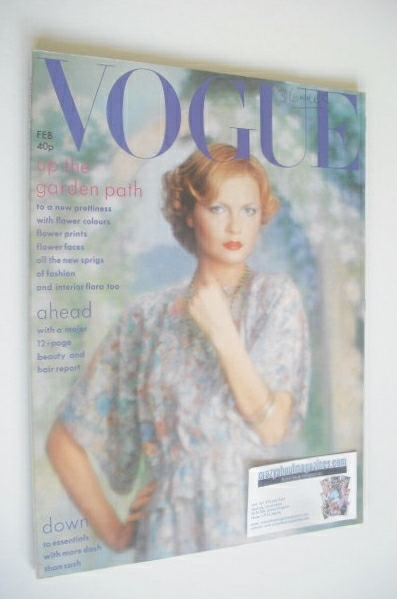 <!--1975-02-->British Vogue magazine - February 1975 - Jane Goddard cover