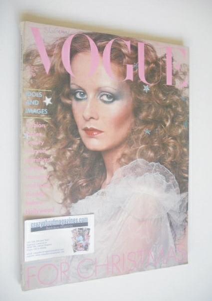 <!--1974-12-->British Vogue magazine - December 1974 - Twiggy cover