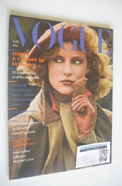 <!--1974-08-->British Vogue magazine - August 1974 - Christiana Steidten co