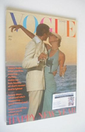 <!--1974-01-->British Vogue magazine - January 1974 - Anjelica Huston and M