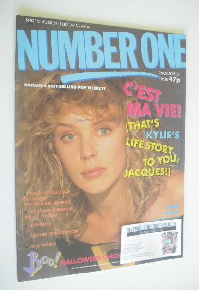 <!--1988-10-26-->NUMBER ONE Magazine - Kylie Minogue cover (26 October 1988