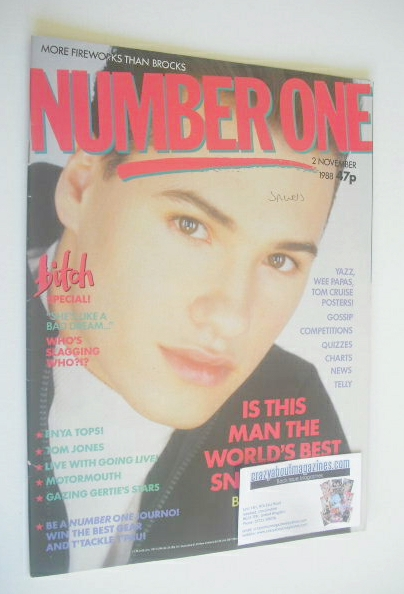 <!--1988-11-02-->NUMBER ONE Magazine - Nathan Moore cover (2 November 1988)
