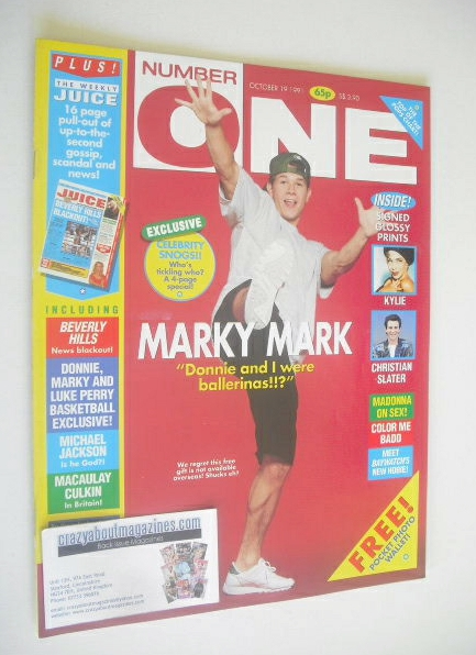 <!--1991-10-19-->NUMBER ONE Magazine - Marky Mark cover (19 October 1991)
