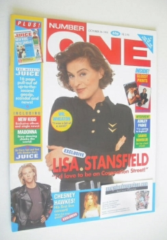NUMBER ONE Magazine - Lisa Stansfield cover (26 October 1991)