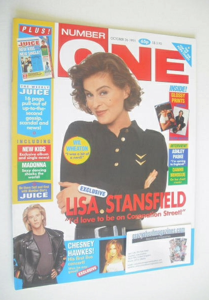 <!--1991-10-26-->NUMBER ONE Magazine - Lisa Stansfield cover (26 October 19