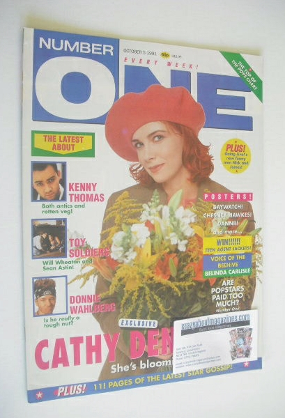 <!--1991-10-05-->NUMBER ONE Magazine - Cathy Dennis cover (5 October 1991)