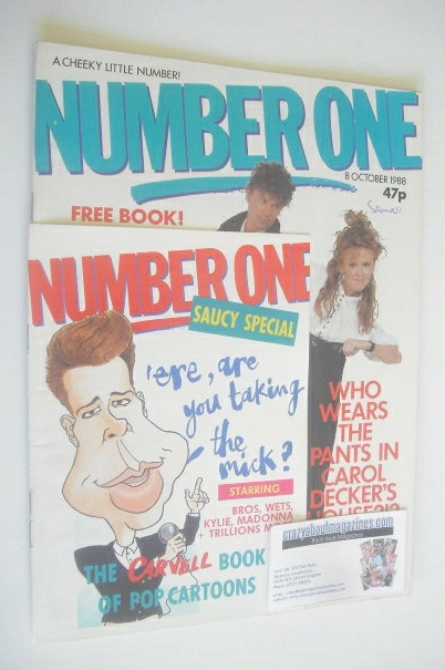 <!--1988-10-08-->NUMBER ONE Magazine - Ronnie Rogers and Carol Decker cover