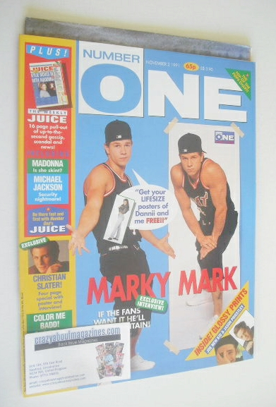 <!--1991-11-02-->NUMBER ONE Magazine - Marky Mark cover (2 November 1991)