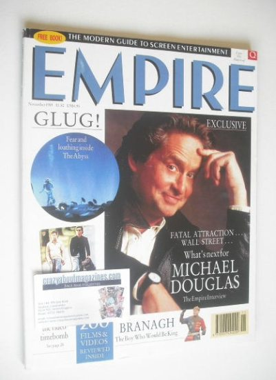 <!--1989-11-->Empire magazine - Michael Douglas cover (November 1989 - Issu