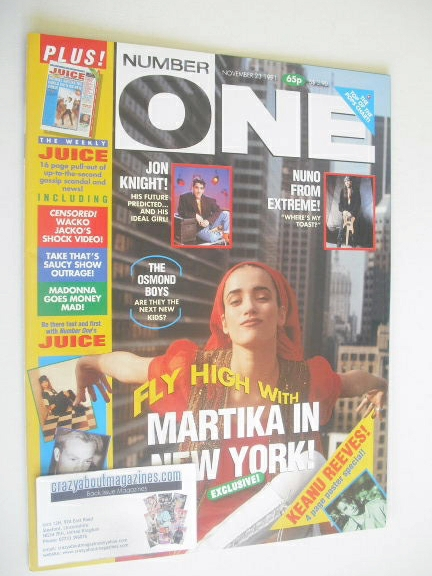 <!--1991-11-23-->NUMBER ONE Magazine - Martika cover (23 November 1991)