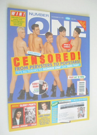 <!--1991-11-30-->NUMBER ONE Magazine - Take That cover (30 November 1991)
