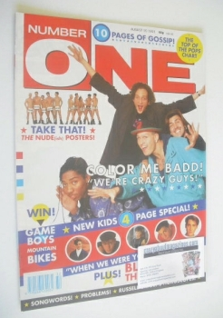 NUMBER ONE Magazine - Color Me Badd cover (10 August 1991)