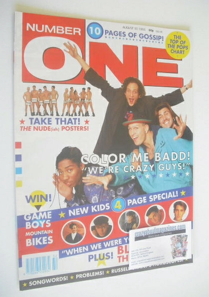<!--1991-08-10-->NUMBER ONE Magazine - Color Me Badd cover (10 August 1991)