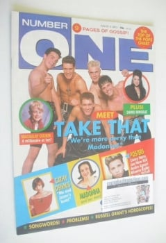 NUMBER ONE Magazine - Take That cover (3 August 1991)