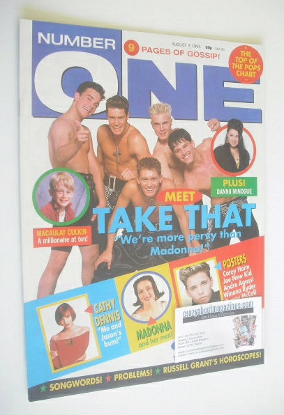 <!--1991-08-03-->NUMBER ONE Magazine - Take That cover (3 August 1991)