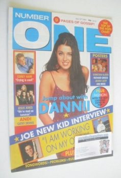 NUMBER ONE Magazine - Dannii Minogue cover (27 July 1991)