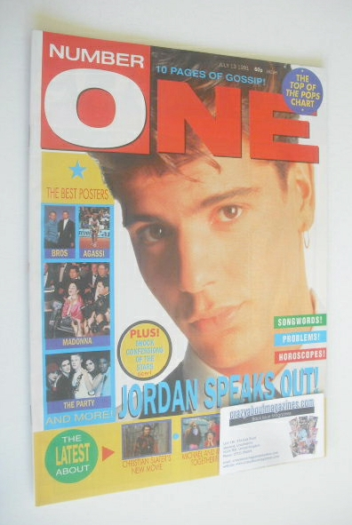 <!--1991-07-13-->NUMBER ONE Magazine - Jordan Knight cover (13 July 1991)