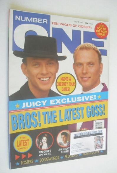 <!--1991-07-06-->NUMBER ONE Magazine - Bross cover (6 July 1991)