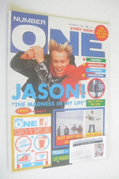 <!--1991-09-07-->NUMBER ONE Magazine - Jason Donovan cover (7 September 199