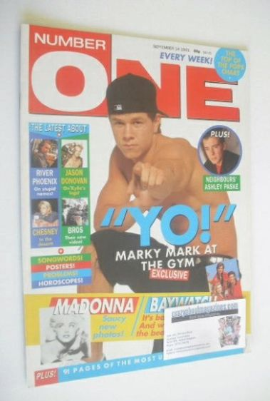 <!--1991-09-14-->NUMBER ONE Magazine - Marky Mark cover (14 September 1991)