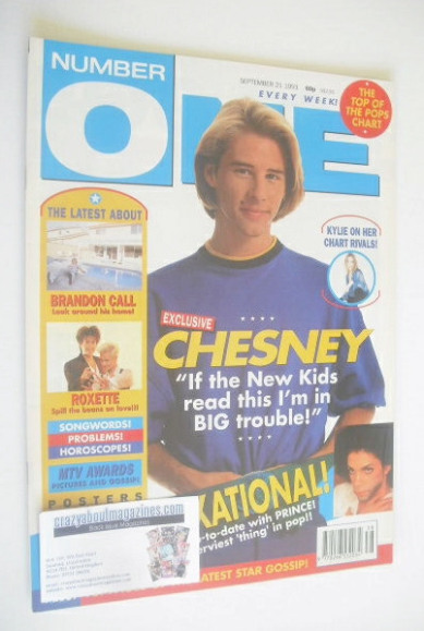 <!--1991-09-21-->NUMBER ONE Magazine - Chesney Hawkes cover (21 September 1