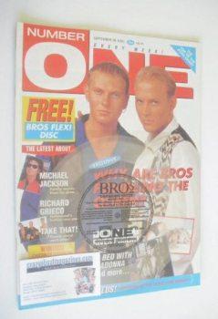 NUMBER ONE Magazine - Bros cover (28 September 1991)