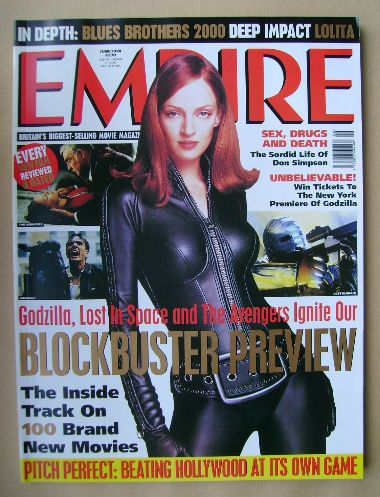 <!--1998-06-->Empire magazine - Uma Thurman cover (June 1998 - Issue 108)
