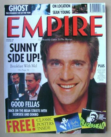 <!--1990-11-->Empire magazine - Mel Gibson cover (November 1990 - Issue 17)