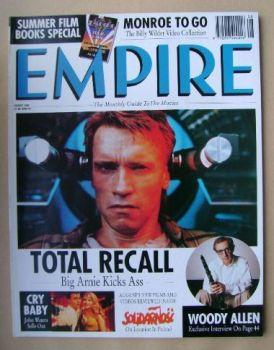 <!--1990-08-->Empire magazine - Arnold Schwarzenegger cover (August 1990 - Issue 14)