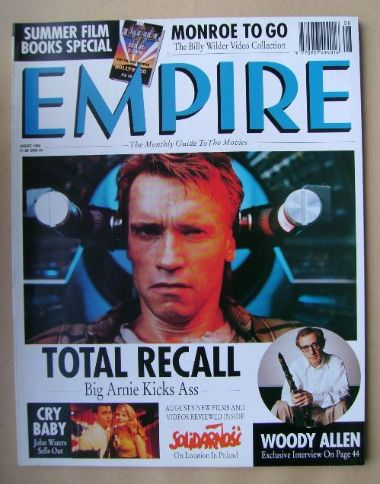 <!--1990-08-->Empire magazine - Arnold Schwarzenegger cover (August 1990 -