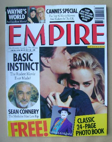 <!--1992-06-->Empire magazine - Michael Douglas and Sharon Stone cover (Jun