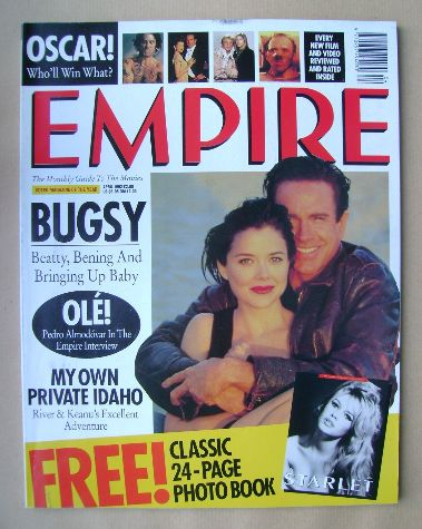 <!--1992-04-->Empire magazine - Annette Bening and Warren Beatty cover (Apr