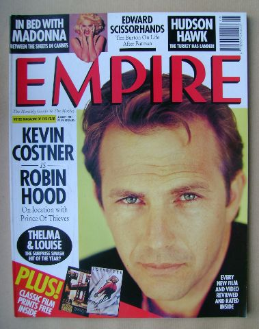 <!--1991-08-->Empire magazine - Kevin Costner cover (August 1991 - Issue 26