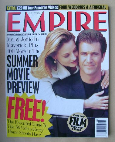 <!--1994-06-->Empire magazine - Jodie Foster and Mel Gibson cover (June 199