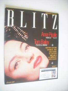 Blitz magazine - February 1985 - Anne Pigalle cover (No. 28)