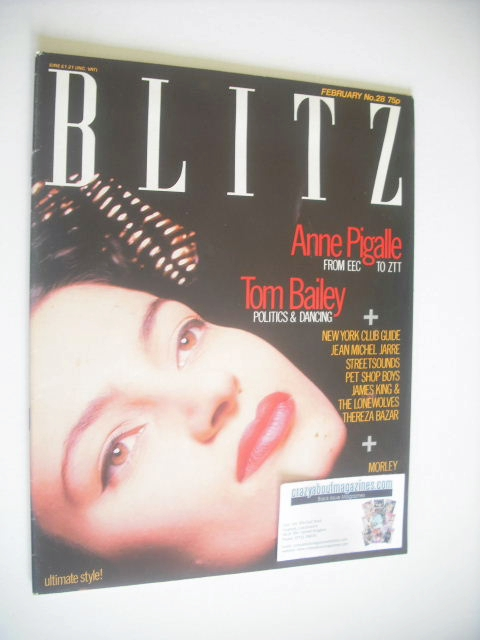 <!--1985-02-->Blitz magazine - February 1985 - Anne Pigalle cover (No. 28)