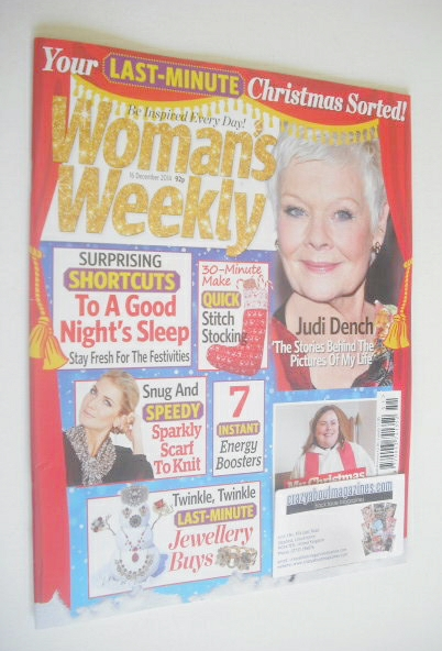<!--2014-12-16-->Woman's Weekly magazine (16 December 2014 - Judi Dench cov