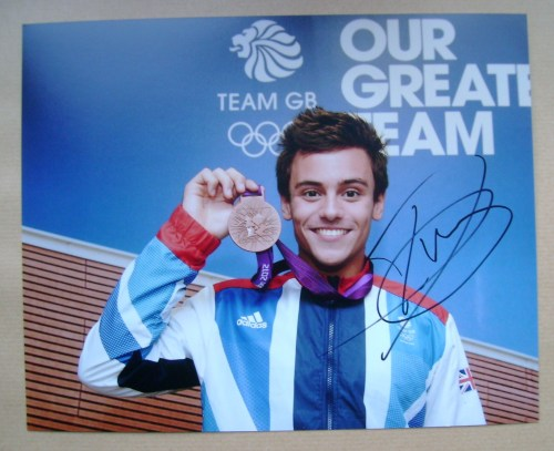 Tom Daley autograph