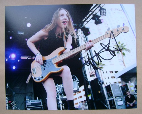 Este Haim signed photo