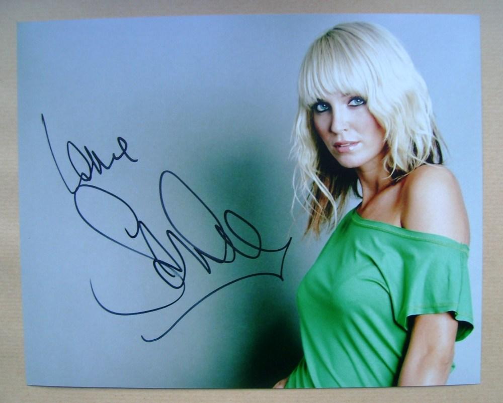 Sarah Harding signed photo