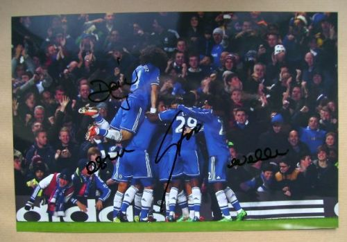 David Luiz, Oscar, Samuel Eto'o, Willian autographs