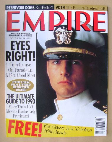 <!--1993-02-->Empire magazine - Tom Cruise cover (February 1993 - Issue 44)