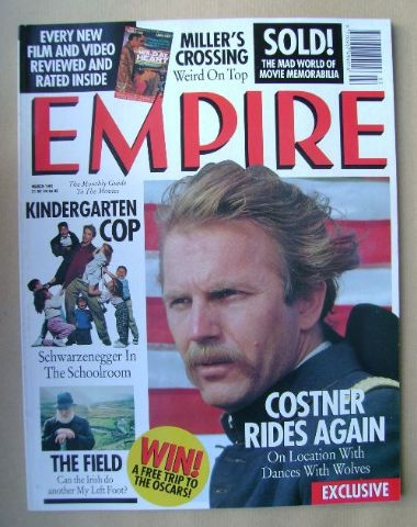<!--1991-03-->Empire magazine - Kevin Costner cover (March 1991 - Issue 21)