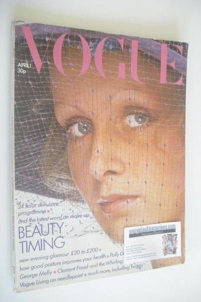 <!--1973-04-01-->British Vogue magazine - 1 April 1973 - Twiggy cover