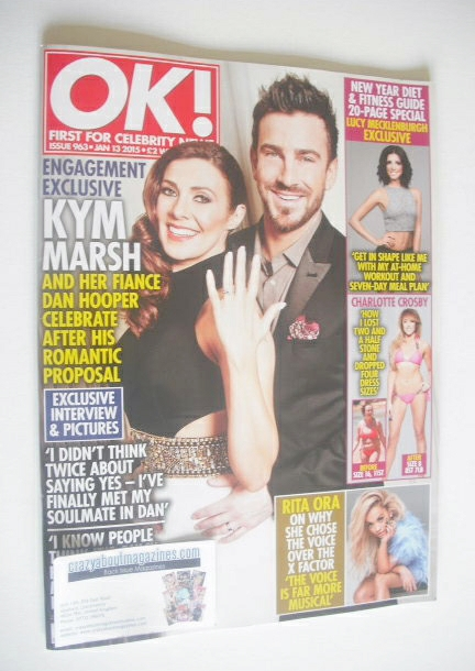 <!--2015-01-13-->OK! magazine - Kym Marsh and Dan Hooper cover (13 January