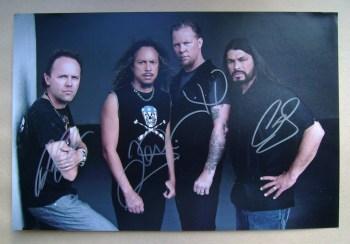 Metallica autographs